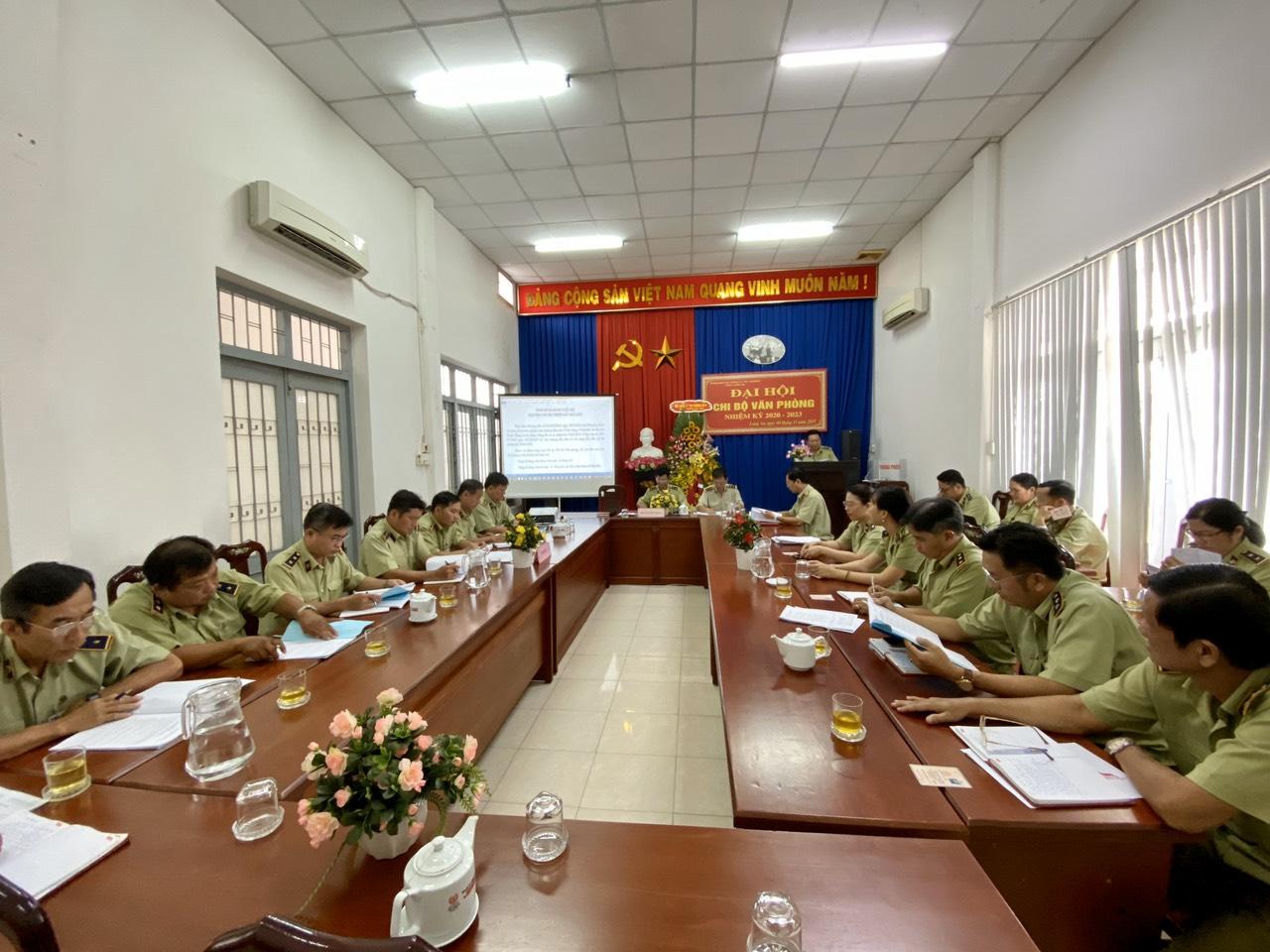 Đại hội Chi bộ Văn phòng Cục Quản lý thị trường tỉnh Long An nhiệm kỳ 2020-2023