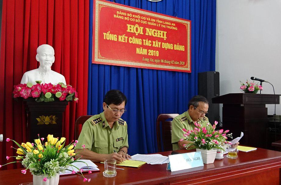 Đảng bộ Cục Quản lý thị trường tỉnh Long An Hội nghị tổng kết công tác xây dựng Đảng năm 2019