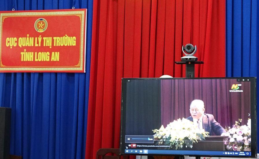Cán bộ, đảng viên và quần chúng thuộc Đảng bộ Cục Quản lý thị trường tỉnh Long An tham gia học tập và làm theo tư tưởng, đạo đức, phong cách Hồ Chí Minh chuyên đề năm 2020