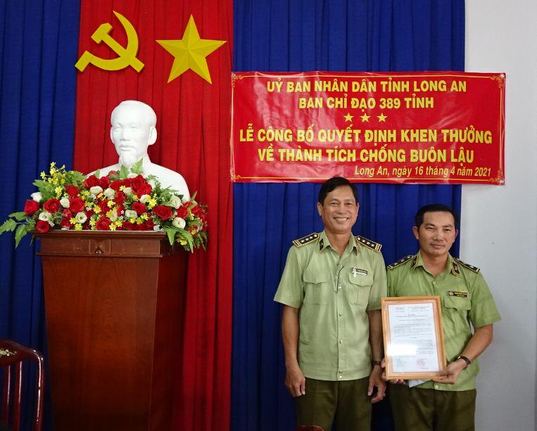Long An, khen thưởng tập thể Đội QLTT số 1
