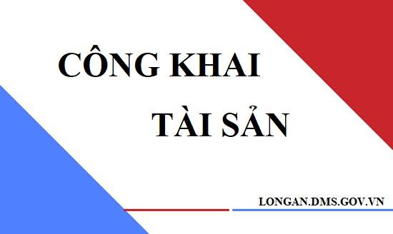 Công khai tài sản công năm 2020 của Cục Quản lý thị trường tỉnh Long An